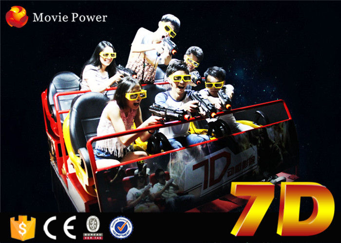 Electronic cinema system 7d rider cinema with interactive game for children